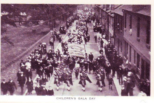 Band at Co-op children's Gala Day 1912