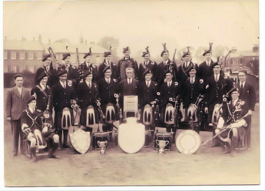 The 1933 Prize-Winning Band photographed behind the Vale Masonic