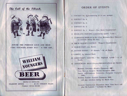 1948 World Championship program order of events