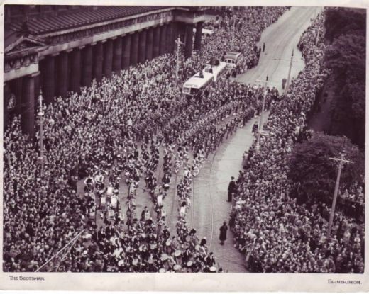 Massed Bands in Princess Street probably 1951
