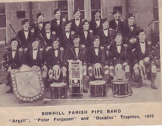 Cowal Band, no committee but the trophies are identified