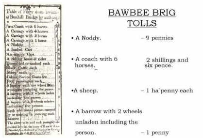 Bonhill Bridge Toll Charges