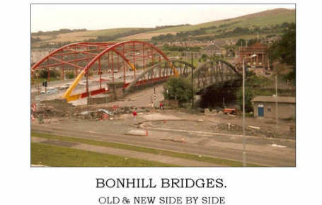 Bonhill Rainbow Bridge under construction