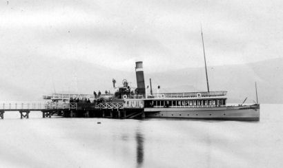 Loch Lomond steamer Empress at Luss