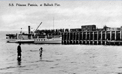 Loch lomond Steamer Princess Patricia at Balloch Pier