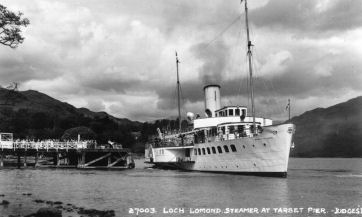 Maid of the Loch at Tarbet Pier