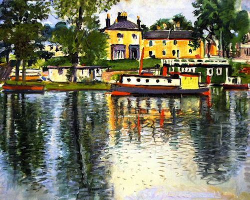 A Famous Painting Of The Balloch Hotel By Scottish Colourist George Leslie Hunter