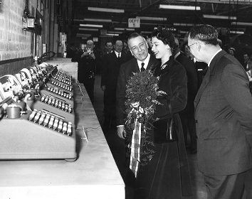 The Queen at Burroughs Factory