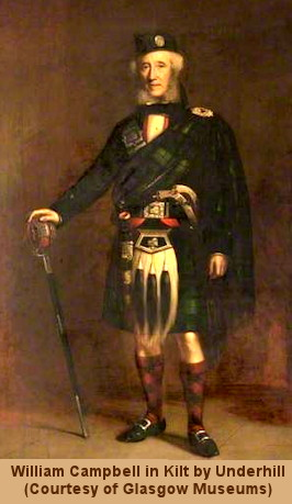 Wilim Campbell in Full Highland Regalia