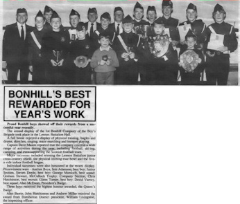Bonhill BB Display 1992/1993
