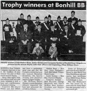 Bonhill BB Display 1993/1994