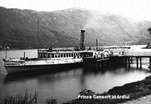 Prince Conort tied up at Ardlui Pier