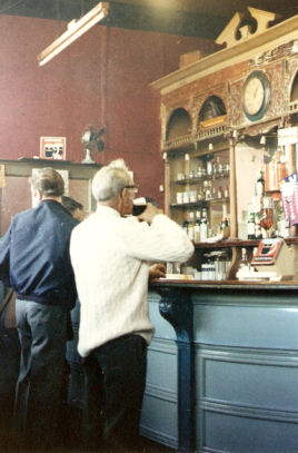 drinking a pint in the Old Vale Bar