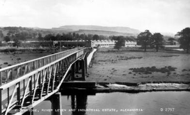 Footbridge over River Leven