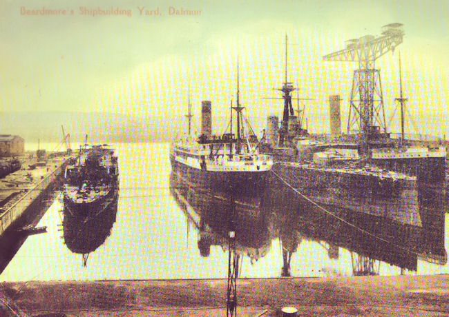 Beardmore fitting out dock during WW1