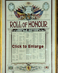 Vale Masonic Roll of Honour WW1